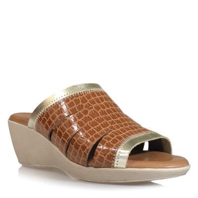 Klapki SPK Shoes 4019 Coco Cuero/Platino