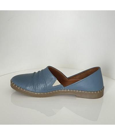 Sneakersy CARINII B3493 Wenus Lustro Srebro