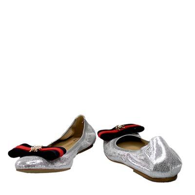 Baleriny Ulmani Shoes 19312 Srebrne